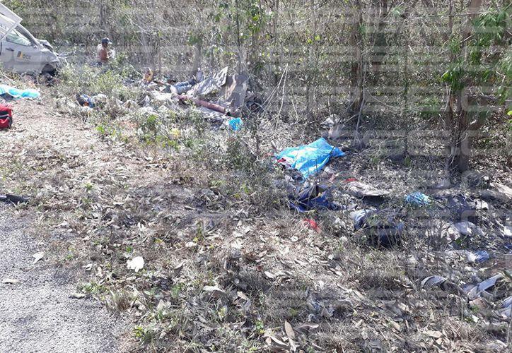Accidente mortal en el kilómetro 189 de la carretera Mérida-Cancun. (SIPSE)