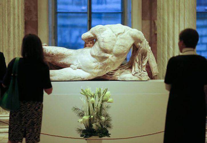 La escultura de Ilissos fue enviada en préstamo a Rusia en secreto, lo que despertó la furia de las autoridades griegas. (AP)