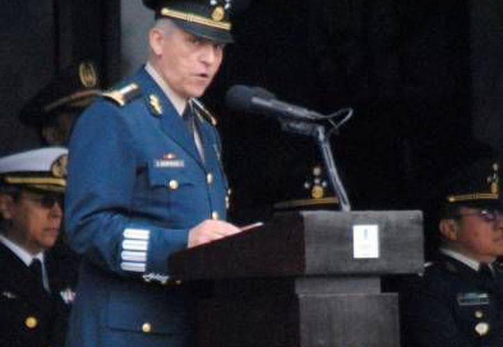 El secretario de la Defensa Nacional, Salvador Cienfuegos, recibió la presea Generalísimo Morelos. (SIPSE/Archivo)