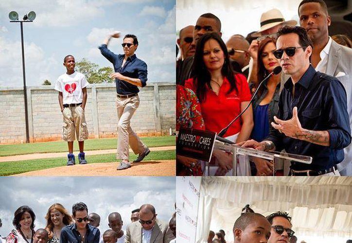 En su cuenta de Facebook, Marc Anthony se dijo muy orgulloso tras el estreno del orfanato en República Dominicana. (Facebook/Marc Anthony)