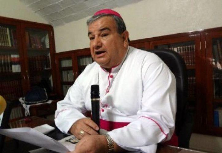 El arzobispo de Acapulco, Carlos Garfias, dijo que están ayudando en la construcción de una plataforma para la paz que sirva a la feligresía. (enfoqueinformativo.mx)