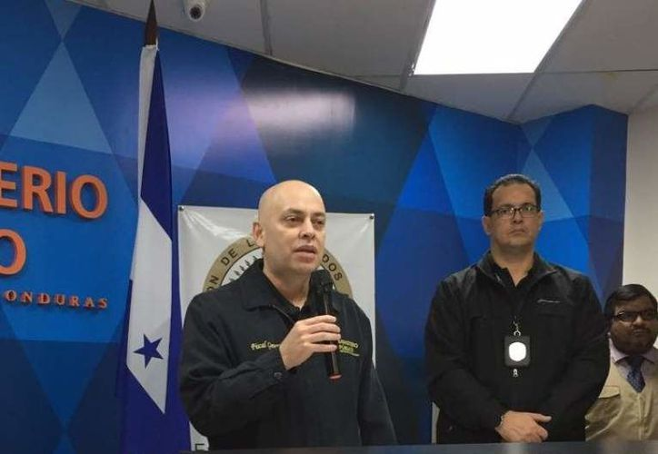 Óscar Chinchilla, fiscal general de la República, informó los detalles de la acusación. (Foto La Prensa Honduras)