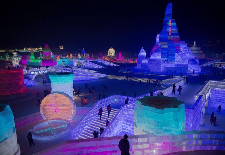 La duración del festival dependerá de que las bajas temperaturas permiten mantenerlas en pie. (Foto: IBTimes UK)
