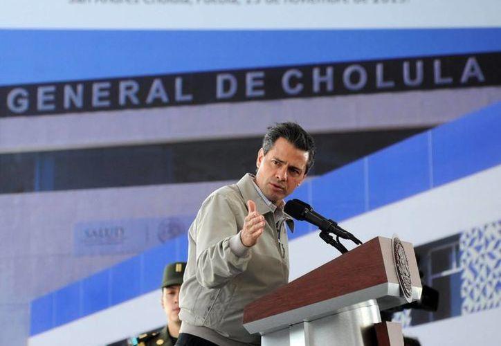 Enrique Peña Nieto inauguró el Hospital General de Cholula en Puebla. (presidencia.gob.mx)