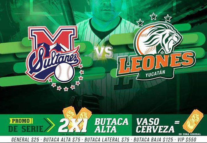 Leones recibirá las visitas de Sultanes de Monterrey y Broncos de Reynosa, a partir del próximo martes en el Parque 'Kukulcán Alamo'. (Foto tomada de Facebook/Leones de Yucatán-oficial)