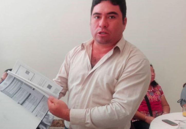 Jorge Humberto, docente que presentó la prueba de oposición. (Joel Zamora/SIPSE)