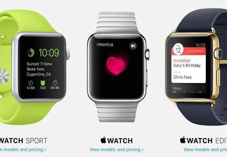 Apple inicia la preventa del reloj inteligente en sus tres versiones: Watch, Sport y Edition. (Apple)