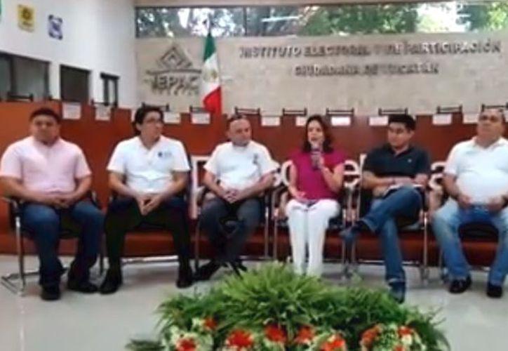 Integrantes del IEPAC Yucatán informaron en conferencia de prensa sobre el PREP. (Captura de pantalla/Video: Nalleli Calderón/Milenio Novedades)
