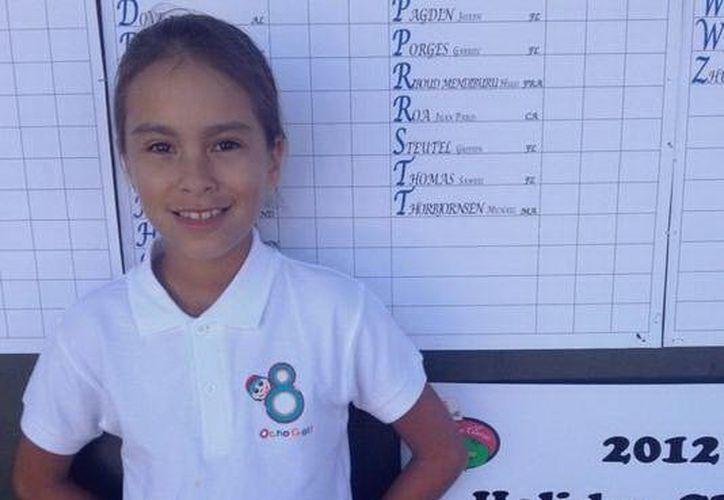 Ariel González compitió en la división de 9 años, donde toman parte jugadoras de mayor edad. (SIPSE)