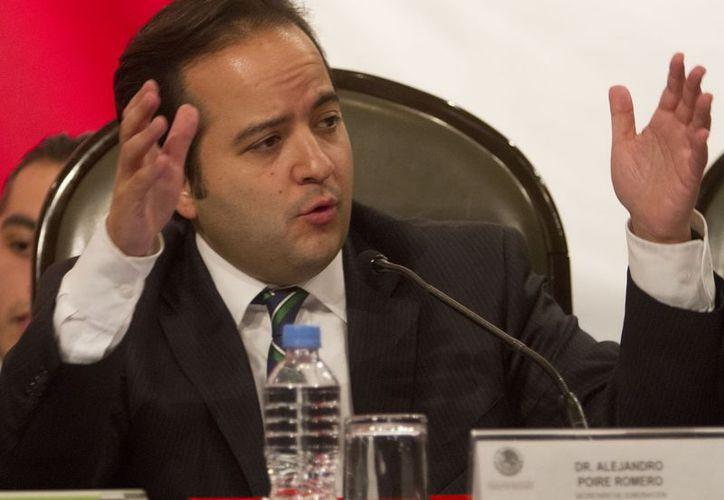 Alejandro Poiré compareció ante diputados de la Comisión de Gobernación de San Lázaro. (Notimex)