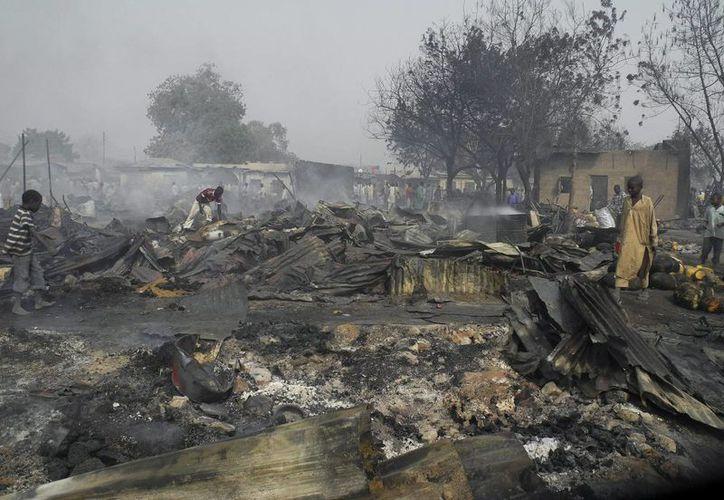 Imagen de archivo de un atentado anterior en un mercado de Nigeria. (Archivo/EFE)