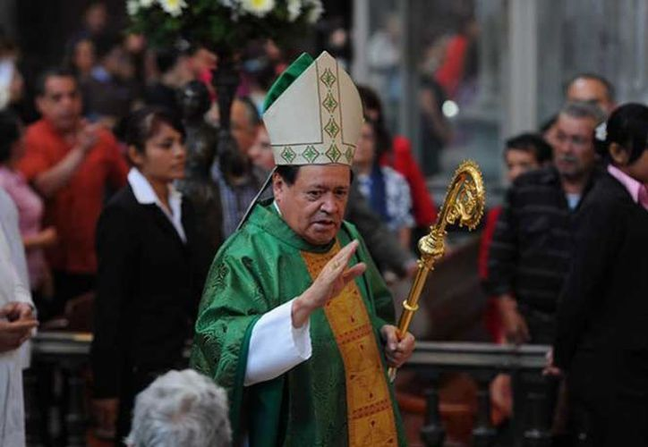 El cardenal Norberto Rivera Carrera llamó a valorar a la Familia, durante su homilía del domingo 5 de marzo de 2017, en la Catedral Metropolitana. (www.excélsior.com.mx)