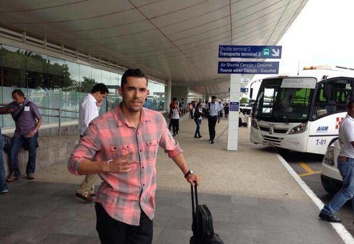 Herculez Gómez llega a Cancún para incorporarse a la pretemporada. (@TigresOficial/Twitter)
