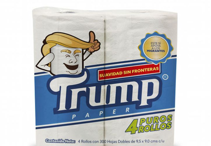El papel higiénico Trump saldrá a la venta este año en México. (Foto: AP)