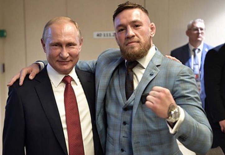 Conor fue un invitado de honor del presidente ruso Vladimir Putin, para presenciar la final de la Copa del Mundo. (Instagram)
