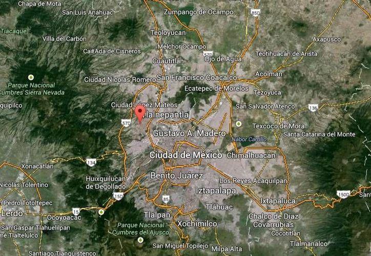 Los plagarios arrestados en Naucalpan ya habían sacado medio millón de pesos a familiares de su víctima, pero les exigieron 1.5 mdp más, lo que derivó en la intervención policiaca y su arresto, (Google Maps)