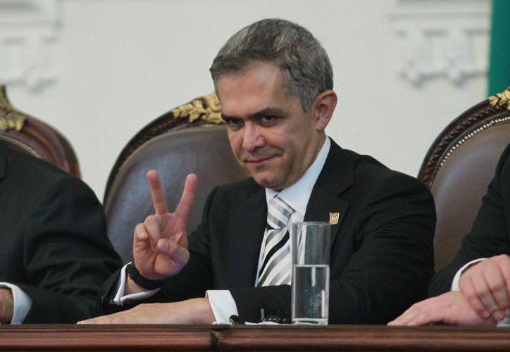 El jefe de Gobierno capitalino, Miguel Ángel Mancera (foto), dijo que se reunirá con el secretario de Hacienda para hablar sobre el presupuesto para la CdMx. (Notimex)