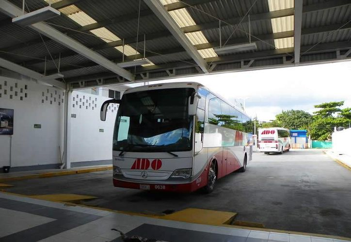 El gerente regional del ADO, Julio García Flores, dijo que la ruta Mahahual-Cancún había dejado de operar y no fue sino hasta hace cuatro meses cuando fue rescatada. (Harold Alcocer/SIPSE)