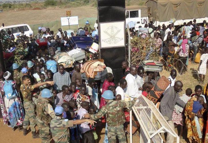 Naciones Unidas informó que estaba protegiendo a civiles en seis capitales estatales, incluyendo a Juba y Bor, así como en Bentiu. (Agencias)