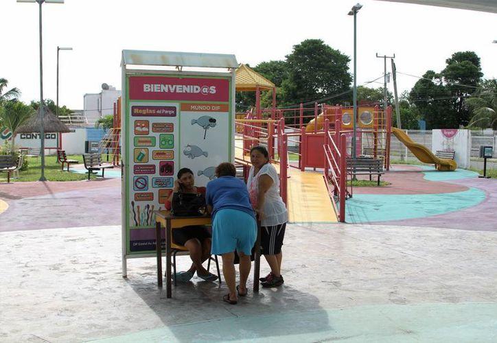 En la inauguración del parque se destinaron 11.5 millones de pesos. (Carlos Horta/SIPSE)