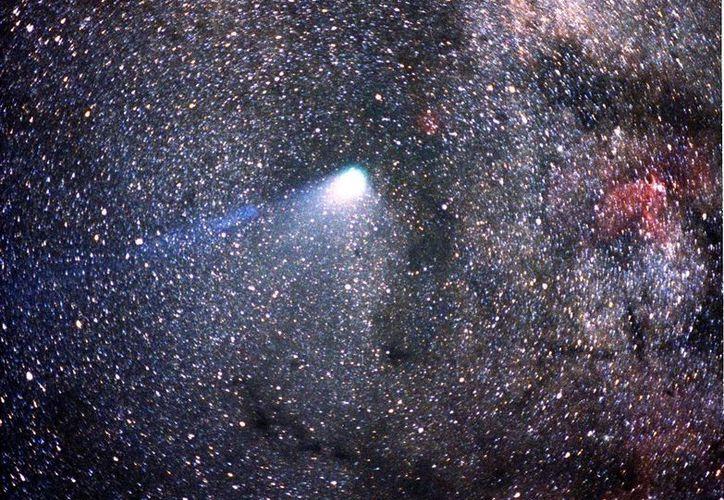 Hace 29 años el cometa Halley dejó a su paso por el Sol basura de hielo, roca y metal que esta noche podrá apreciarse convertida en la lluvia de estrellas Eta Acuáridas. (wikimedia.org)
