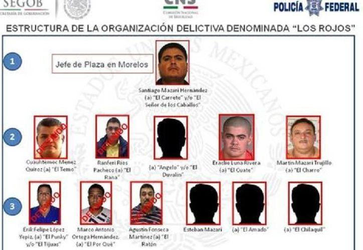 Los dos 'Rojos' arrestados este lunes son  Ranferi Ríos Pacheco, La Rana (arriba),  y Agustín Fonseca Martínez, El Ratón. (Foto: cortesía)