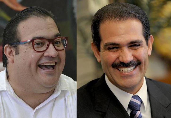 Javier Duarte, ex mandatario de Veracruz, y Guillermo Padrés, ex gobernador de Sonora, son acusados de actos de corrupción que han generado un gran escándalo en México. (Archivo/Agencias)
