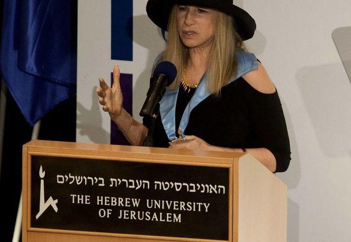 Streisand, de 71 años, asistirá a la fiesta del presidente de Israel, Shimon Peres, antes de presentar sus primeros conciertos en el país, este jueves y el domingo. (Agencias)