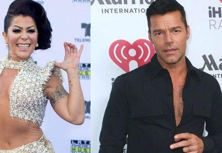 Ricky Martin y Alejandra Guzmán fueron pareja en la época de los 90. (Foto: Internet)