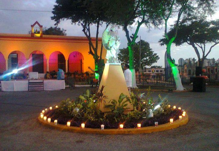 Sitio exacto en donde don Braulio vio a la persona que le dio el recado de su difunta esposa. (Jorge Moreno/SIPSE)