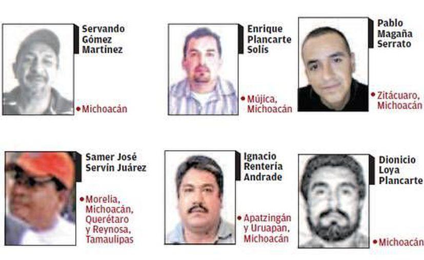Los seis líderes de Los Caballeros Templarios más buscados por el gobierno federal. (Milenio)