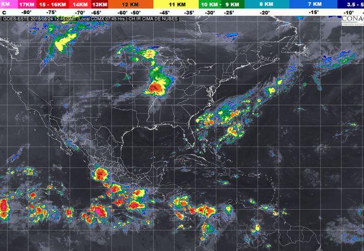 Durante el día de hoy se espera la formación de tormentas por la tarde. (Conagua)