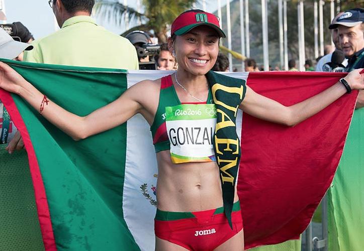 Lupita González enfrenta una suspensión de hasta cuatro años. Se perdería Tokio 2020. (Twitter)