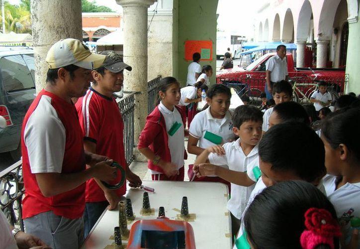 Los menores aprenderán sobre métodos de preservación del agua, contaminación y utilización de material reciclable. (SIPSE)