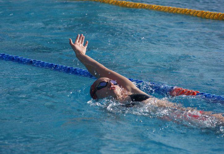 Tayde participó en el Campeonato Mundial Junior de Natación, en Indianápolis. (Foto; Ángel Villegas)