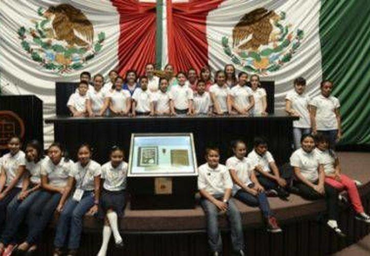 En total participaron 26 niños y niñas en el Parlamento Infantil de Quintana Roo. (Redacción/SIPSE)
