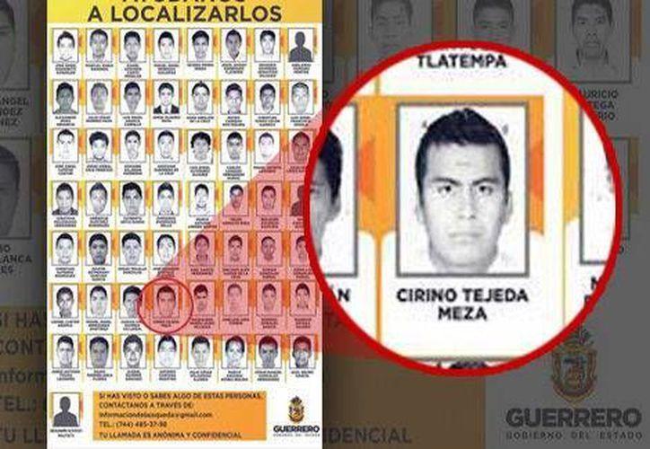 Cirino envió a la redacción de Milenio la foto de una credencial en la que aparece su foto, que coincide con la imagen de la primera lista de desaparecidos. (Milenio)