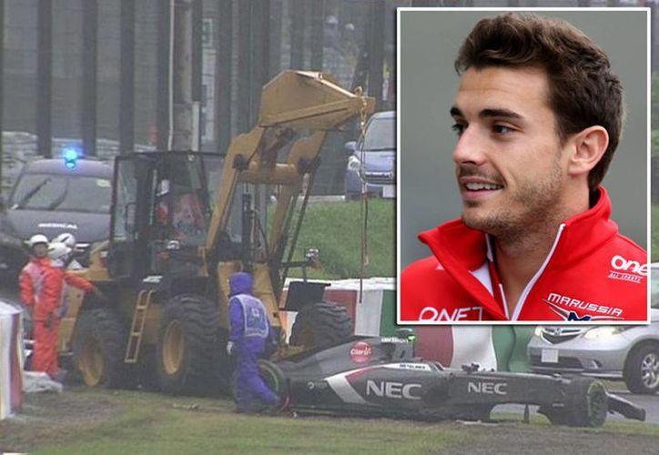 El piloto Jules Bianchi, quien sufrió el tremendo accidente en el GP de Japón, el año pasado al estrellarse contra una grúa, falleció. (picpix.com)