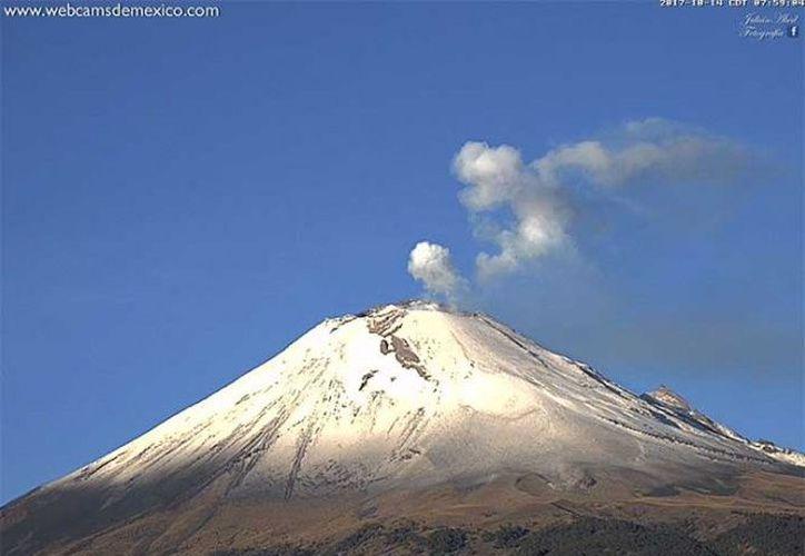 La Alerta Volcánica se mantiene en Amarillo Fase 2. (Webcams México)