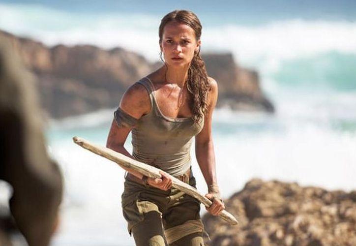 La actriz sueca estuvo de visita en la Ciudad de México para la premiere de su más reciente película 'Tomb Raider'. (Foto: AS)