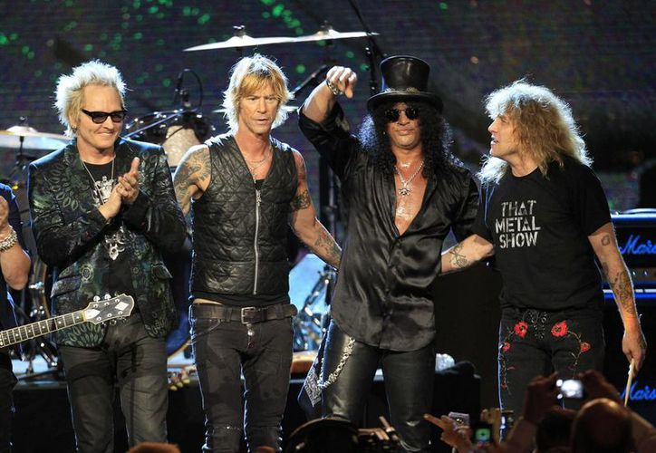En 2012 Guns' N Roses acudió a su incorporación al Salón de la Fama del Rock and Roll sin su vocalista Axl Rose, quien dijo que no lo respetaban. (Agencias)