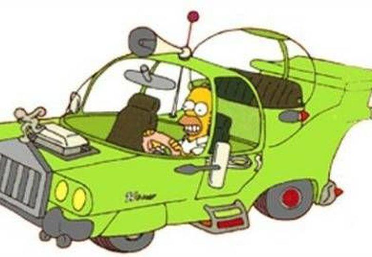 Este es el auto de los sueños de Homero Simpson. (milenio.com)