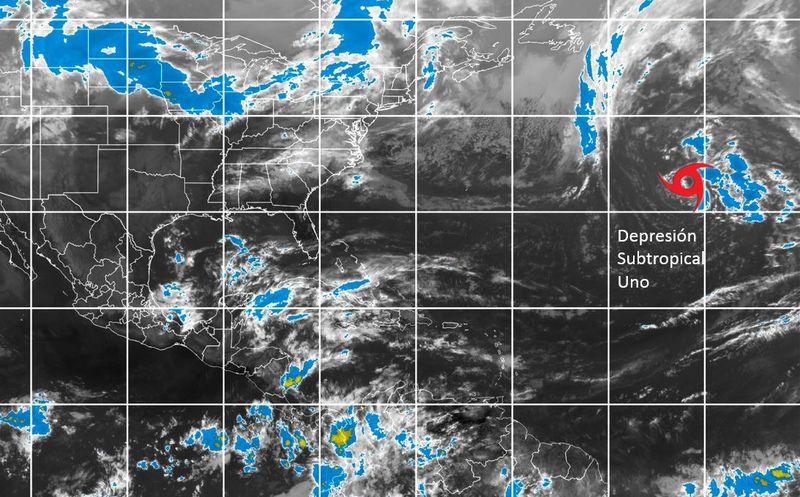 Fuera de temporada se forma depresión subtropical en el Atlántico