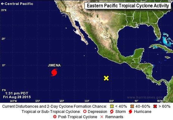 Meteorólogos aseguran que 'Jimena' seguirá alejándose de las costas mexicanas. (noaa.gov)