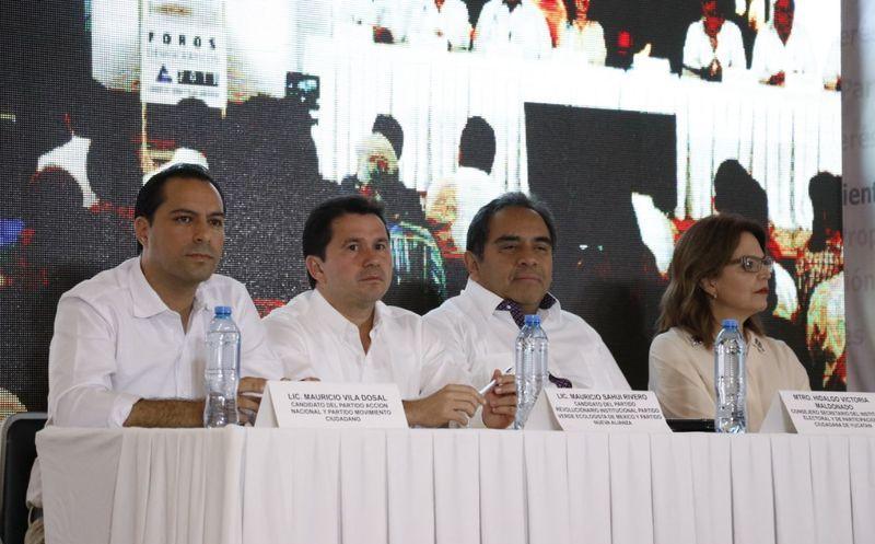 Para los cuatro candidatos el tema de la seguridad es un factor importante para la estabilidad del Estado. (José Acosta/Milenio Novedades)