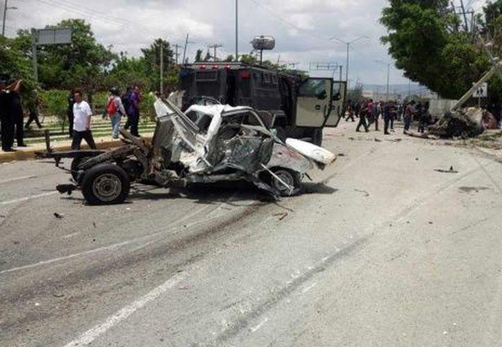 Graves daños dejó el accidente en el poniente de Tuxtla Gutiérrez, Chiapas. (excelsior.com)