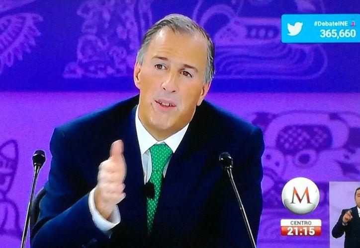 Meade durante el debate lanzó un guiño a la selección.