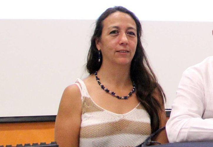 Samia Jalife, jefa de Vinculación de Unidad Académica en Sisal, destacó que en Yucatán hay muchas investigaciones. (Milenio Novedades)