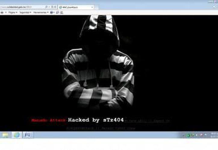 """El ataque se lo atribuyó una persona que se identifica como """"sTz404"""". (Foto/Cortesía)"""