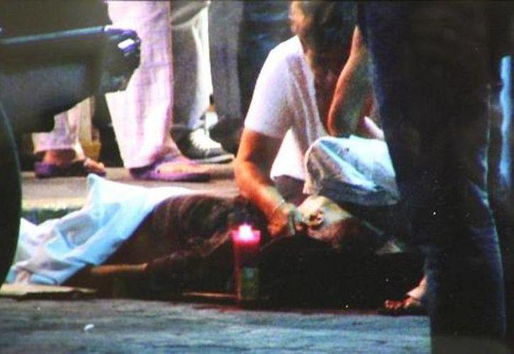 El cuerpo del fallecido incluso fue tapado con una sabana. (Milenio)
